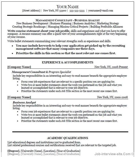 Free Sle Resume Templates Microsoft Word Professional Resume Template Word Learnhowtoloseweight Net