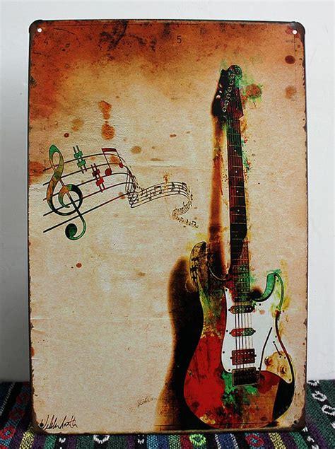 imagenes retro guitar tab 2018 new 2015 vintage tin sign retro metal painting guitar
