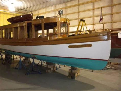 pelican boat dealers ontario 1897 davis dry dock glass cabin launch power boat for sale