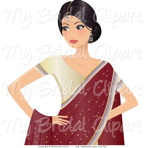 beautiful cartoon women art indian woman clipart 20