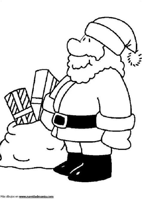 dibujos de navidad para colorear facil dibujo de viejito pascuero facil para colorear de navidad