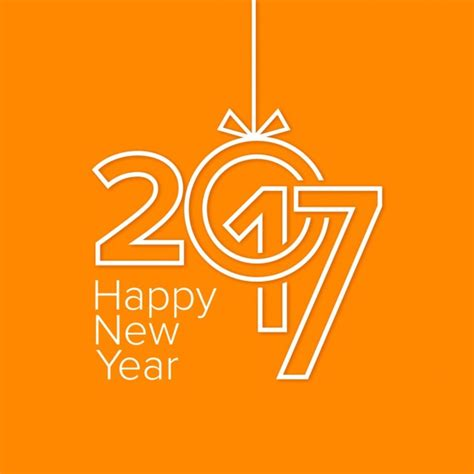 new year orange picture 2017 vectors photos and psd files free