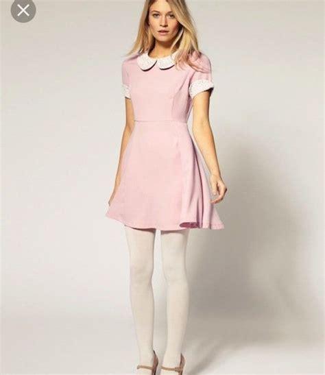 Dress Pan dress collared dress pink dress pan collar baby