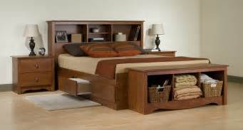 4pc monterey cherry platform storage bedroom set