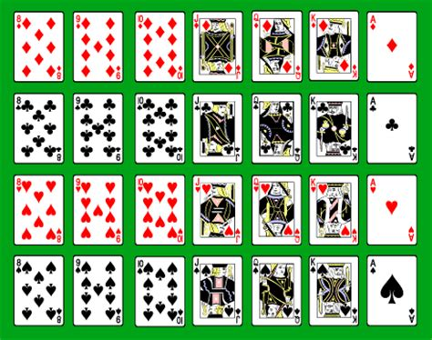 printable card deck 8 best images of free printable deck of cards free