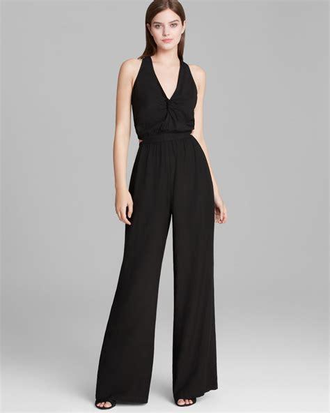 Legged Jumpsuits by Lyst Guess Jumpsuit Bridgette Wide Leg In Black