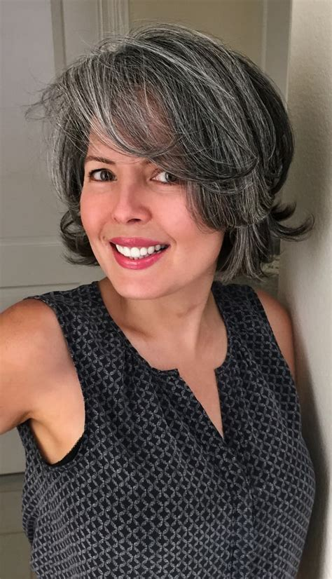 curly ombre over 50 womens hsirdtyle wavy gray bob hairstyles with bangs women over 50 short