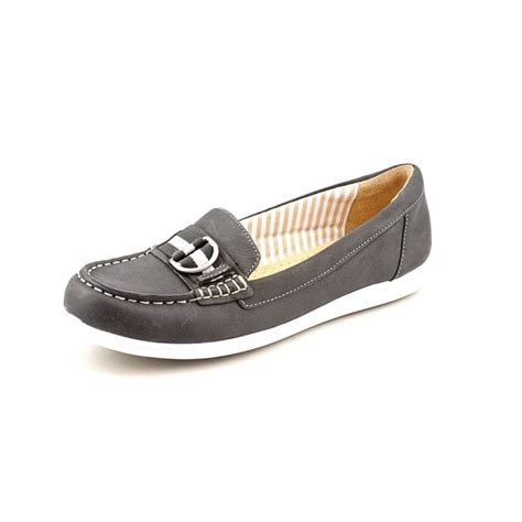 naturalizer naturalizer japara womens narrow leather black loafers shoes clearance