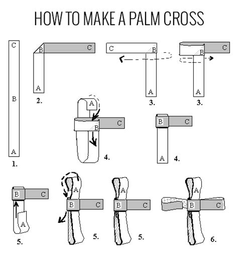 How To Make A Paper Cross - how to make a palm cross