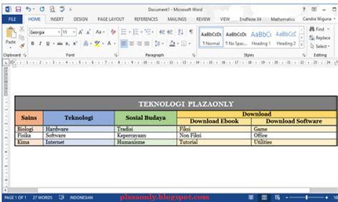 cara membuat tabel warna html cara membuat kotak atau tabel di dalam blog plaza only