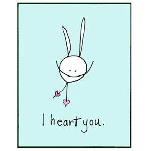 i you i you inside blank rabbitrabbit cards