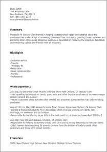 Grocery Clerk Sle Resume by Professional Grocery Clerk Templates To Showcase Your Talent Myperfectresume