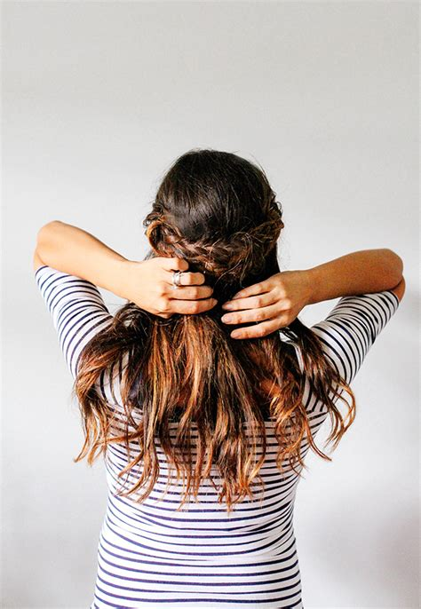 outra bundle hairstyles half crown braid tutorial braided crown back view of