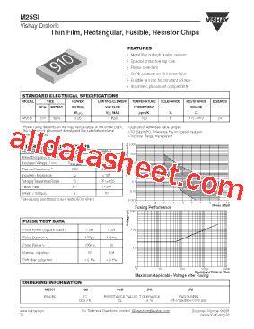vishay m55342 resistors m25si datasheet pdf vishay siliconix