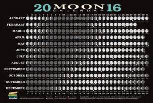 2016 moon calendar card phases and eclipses pack of 5
