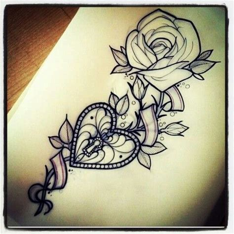 rose and hearts tattoos locket maybe just maybe cool