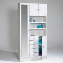 armoire de salle de bain grimsby blanc la redoute