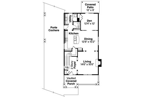 Craftsman House Plans With Porte Cochere by Craftsman House Plans With Porte Cochere