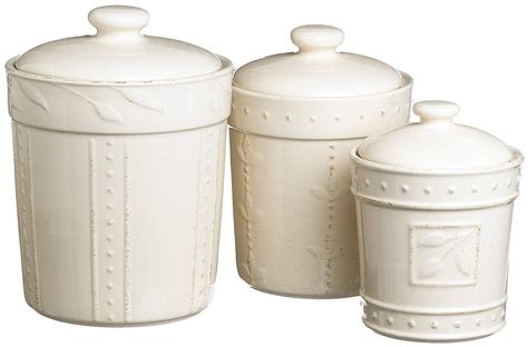 white kitchen canister set storage lid coffee flour sugar