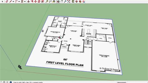 sketchup floor plans sketchup house 01 import floor plan youtube