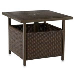 Patio Umbrella Stand Side Table Buy Patio Umbrella Table Base From Bed Bath Beyond