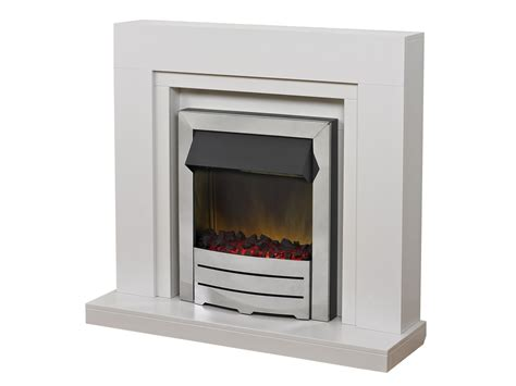 White Fireplace Suites by Adam Fireplace Suite In White With Colorado Chrome