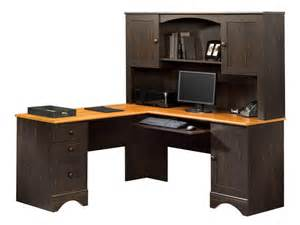 Computer Corner Desk With Hutch Enlarge Zoom Configuration Antiqued White