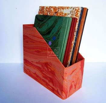 Handmade Paper Files - desktop file holder handmade paper buy eco friendly