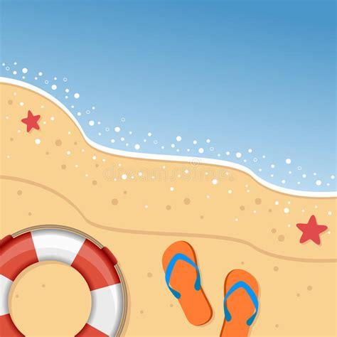 flips graphic design summer beach with flip flops lifebuoy stock vector