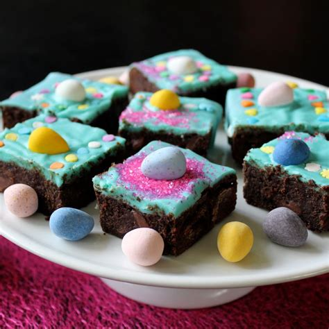 Decoration For Brownies by Quintuple Chocolate Easter Brownies Lea