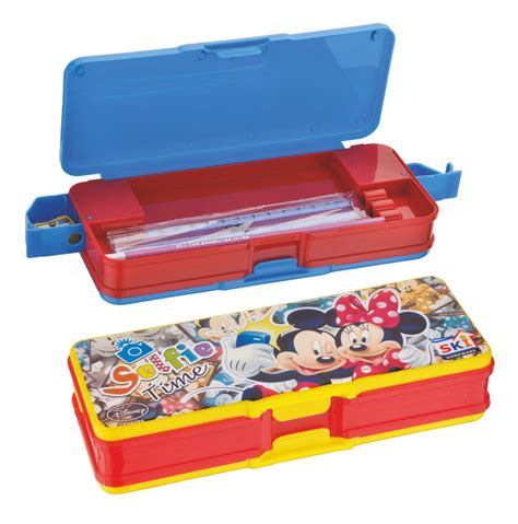 Daster Mickey disney duster big pencil box ski plastoware