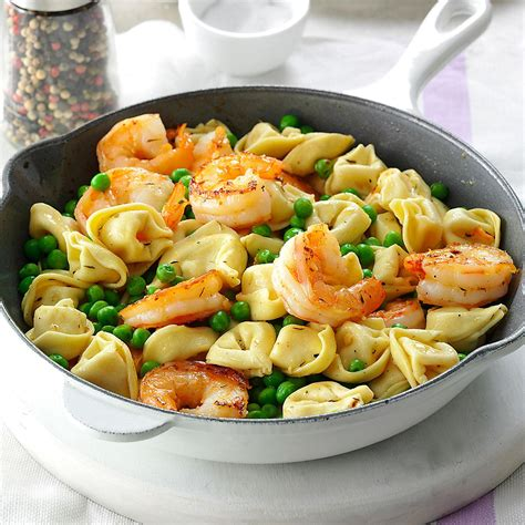 shrimp tortellini pasta toss recipe taste of home