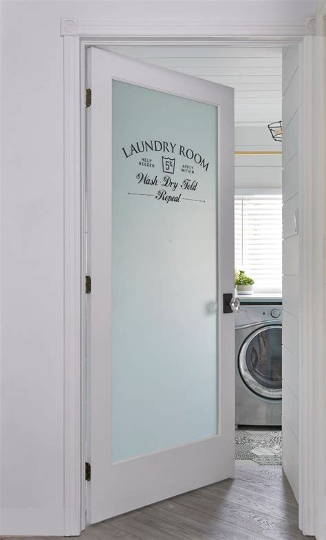 Laundry Room Doors Frosted Glass Laundry Room Door Laundry Room Door Ideas Adding A Frosted Glass Door To A Laundry Room Is