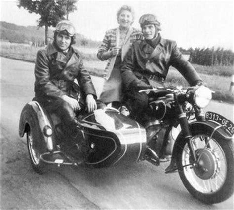Motorradbekleidung 50er Jahre by Polizeifahrzeuge