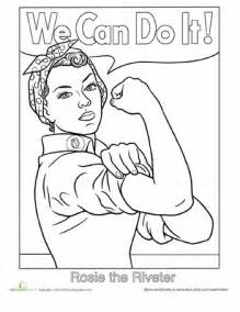 worksheets rosie riveter coloring schooly stuffs