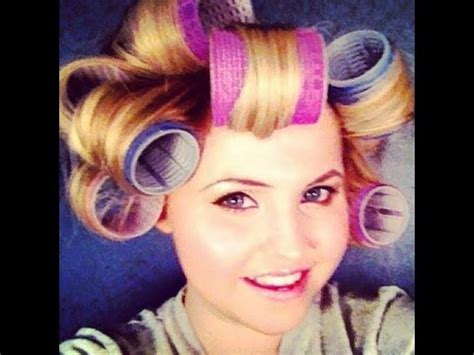 Hair Curlers Tutorial by Hair Tutorial With Velcro Rollers