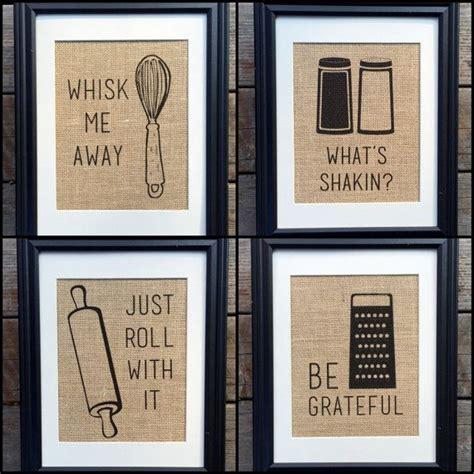 Prints Home Decor choose four funny kitchen home decor burlap print wall