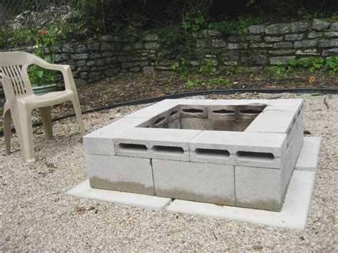 Cinder Block Firepit I Built A Pit And You Can The Loft
