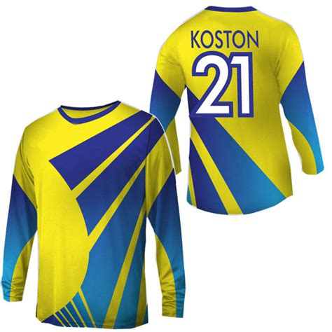 design a soccer shirt online new design long sleeve soccer jersey with yellow and blue
