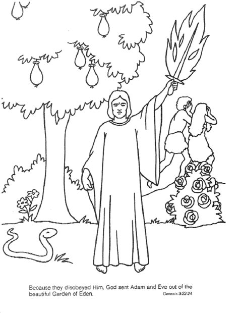 Adam And Eve Coloring Pages For Kids Coloring Home Adam And Coloring Pages For