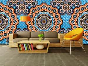 Moroccan Wall Murals Moroccan Mosaic Wall And Deco Wallpaper Mural