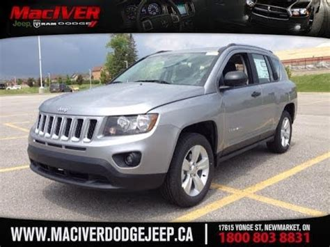 gray jeep compass 2014 grey jeep compass sport 4x2 newmarket ontario