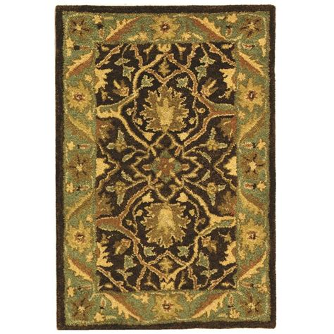 brown and green area rug safavieh antiquity brown green 2 ft x 3 ft area rug