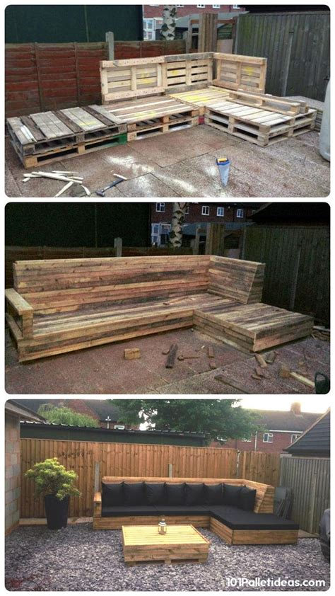l shaped pallet couch pallet l shaped sofa for patio couch 101 pallet ideas