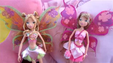 winx club stella believix doll winx club flora believix power doll comparison youtube