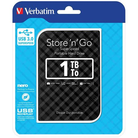 format verbatim external hard drive for mac verbatim portable hard drive 1tb usb 3 0 driv1240 cos