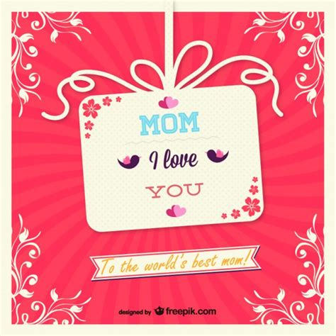 Mothers Day Gift Cards - mother s day gift card vector free download