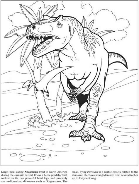 Allosaurus Coloring Pages allosaurus coloring page az coloring pages