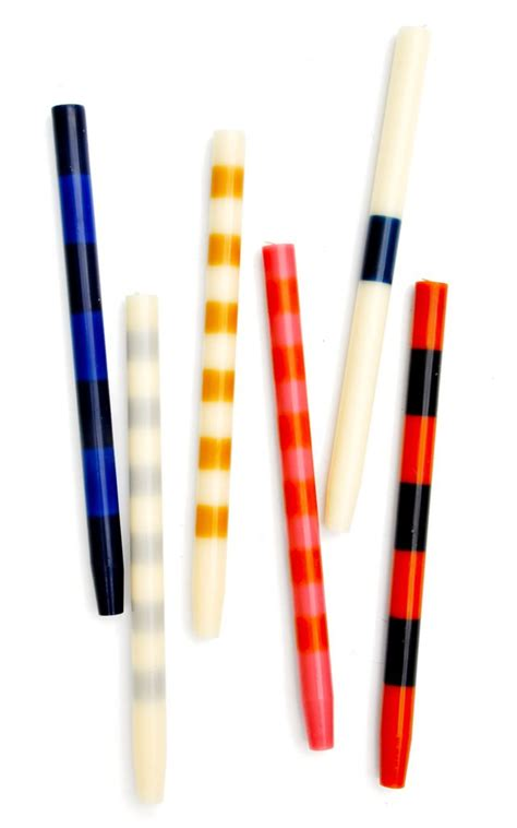 Patterned Taper Candles | colorful striped 14 quot taper candles by ana