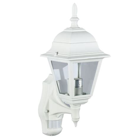 B Q Polperro Outdoor Wall Light With Pir In White Wall B Q Outdoor Lights
